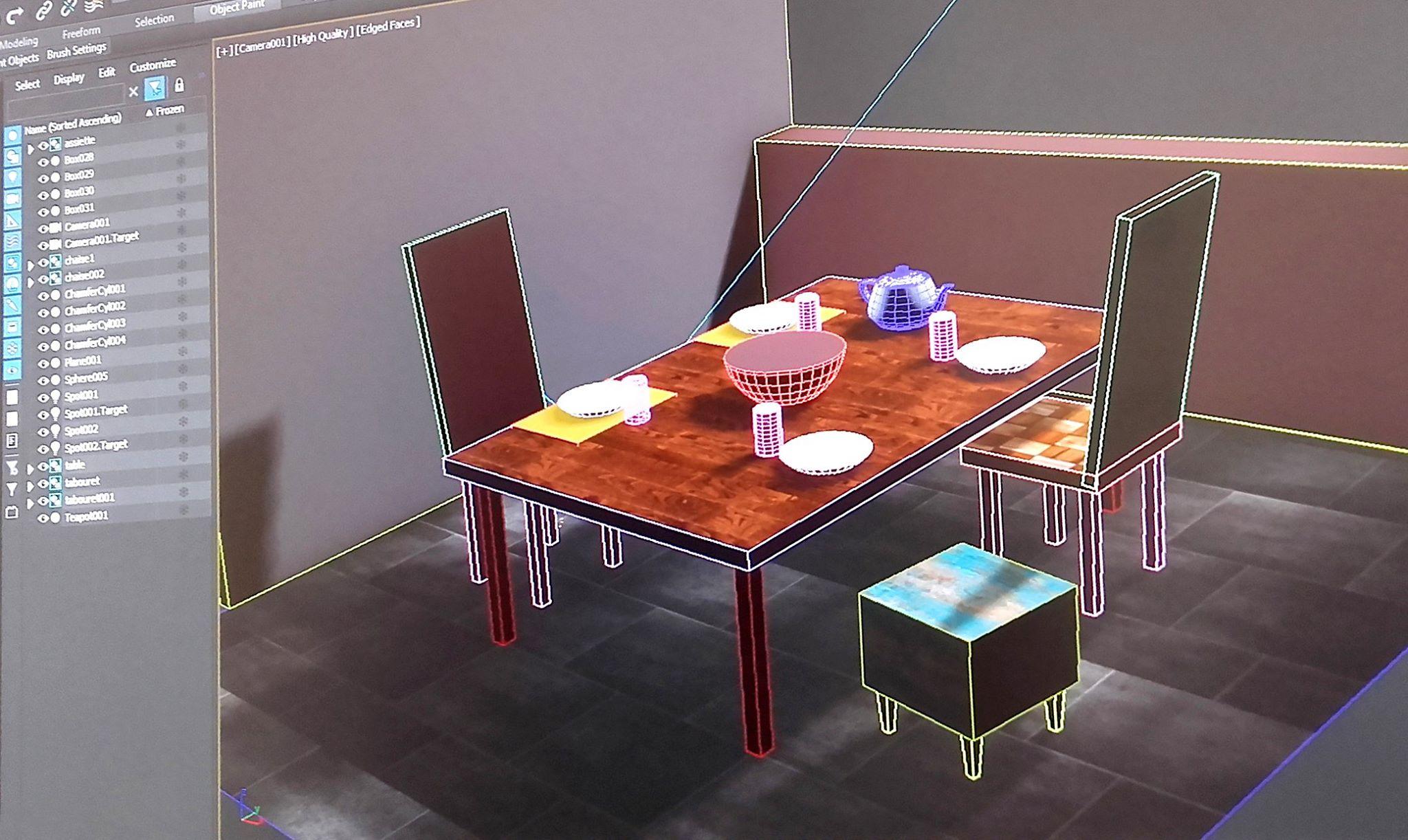 création simple sur 3Ds-Max un